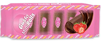0084. Мини руло ванилия с крем ванилия и конфитюр ягода 6 бр. X 40 гр.