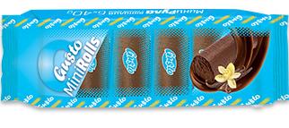 0085. Мини руло ванилия с какаов крем и глазура 6 бр. X 40 гр.
