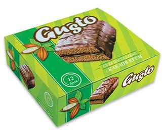 0131. GUSTO суха паста какао с какаов крем 12 бр. X 35 гр.