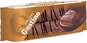 0144. GUSTINO cocoa cake bar with cocoa cream – 270 gr.