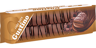 0148.  GUSTINO cocoa cake bar with cocoa cream – 450 gr.