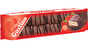 0145. GUSTINO vanilla cake bar with vanilla cream and strawberry jam – 450 gr.