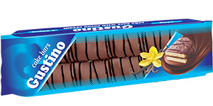 0146.  GUSTINO vanilla cake bar with cocoa cream – 450 gr.