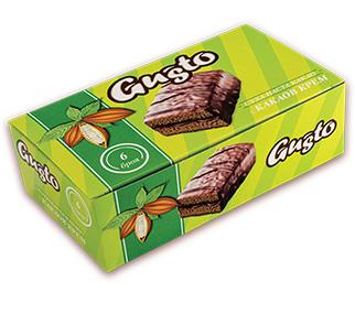 0122. GUSTO суха паста какао с какаов крем 6 бр. X 35 гр.