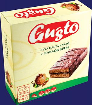 0110. GUSTO суха паста какао с какаов крем 10бр. Х 32гр.