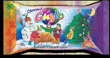 0003. Кроасан Gusto с какаов крем-зимен