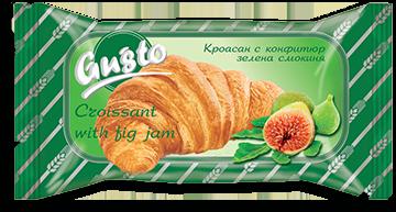 0004. Кроасан Gusto с конфитюр зелена смокиня